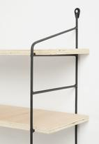 Sixth Floor - Deco shelf - black