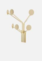 Present Time - Wall dots coat hanger - gold