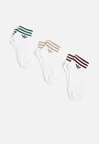adidas Originals - Ankle stripe socks 3 pack