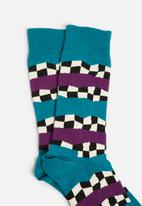Happy Socks - Checkered stripe socks