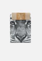 Present Time - Tiger face tea towel