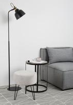 Sixth Floor - Brooklyn floor lamp - black