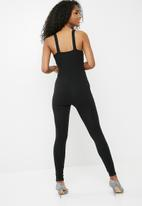 dailyfriday - Tie detail unitard-black