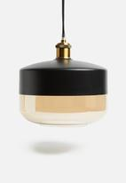 Sixth Floor - Duo plump pendant - black