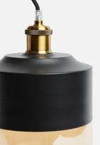 Sixth Floor - Duo cylinder pendant - black
