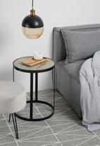 Sixth Floor - Duo ball pendant - black
