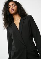 dailyfriday - Asymetic blazer dress - black