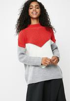 dailyfriday - Colour blocked knit - multi