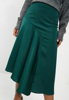 dailyfriday - Asymetric midi skirt - green