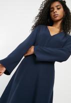 dailyfriday - Bell sleeve skater dress - navy