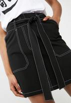 dailyfriday - Paperbag mini skirt - black