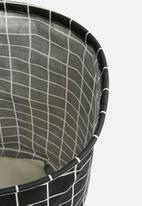 Sixth Floor - Grid laundry basket - black