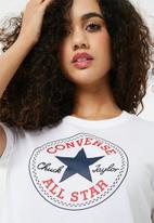 Converse - Core crew short sleeve tee - white