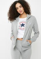 Converse - Core full zip hoodie - grey