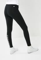 Converse - Core reflective wordmark leggings - black