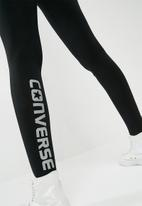 Converse - Core reflective wordmark leggings - black