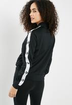 Converse - Chevron long sleeve track jacket - black & white