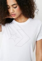 Converse - Core star chevron short sleeve tee - white