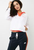Nike - Mesh bomber jacket - white & coral