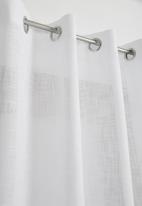 Sixth Floor - Two tone eyelet curtain