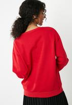 dailyfriday - Printed sweat top - red