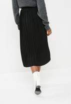 dailyfriday - Pleat midi skirt - black