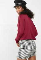 dailyfriday - Slouchy turtleneck top - red