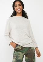 dailyfriday - Oversize knit top - nude