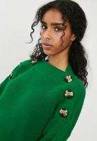 dailyfriday - Button detail knit - green
