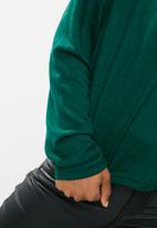 dailyfriday - Slouchy turtleneck top - green
