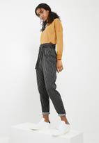 dailyfriday - Paper bag trouser - black