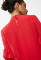 dailyfriday - Bubble sleeve shift dress - red