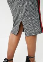 dailyfriday - Check bodycon skirt - grey