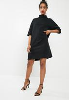 dailyfriday - Roll neck sweat dress - black
