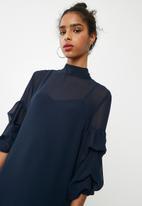 dailyfriday - Bubble sleeve shift dress - navy
