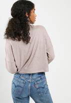 dailyfriday - Slouchy turtleneck top - pink