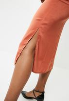 dailyfriday - Cowl neck slip dress - orange