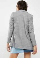 New Look - Check blazer - grey