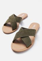 Cotton On - Everyday Scarrlett slide - khaki