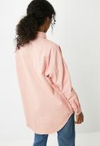 Missguided - Oversized washed denim shirt - pink