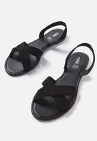 Cotton On - Everyday banting crossover sandal - black