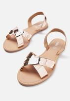 Cotton On - Everyday banting crossover sandal - rose gold
