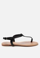 Cotton On - Everyday Aubrey stud toe post - black