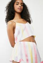 Missguided - Satin striped short pyjama set -  multi