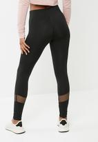 Missguided - Fishnet panel leggings - black