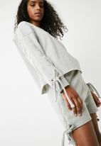 Missguided - Ruched lounge wear short set - grey