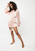 Missguided - Bridesmaid robe - pink