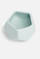 Grey Gardens - Hex mini vase - duck egg