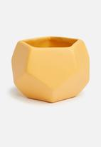 Grey Gardens - Hex mini vase - mustard