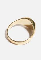 Matter of Fakt - Brass signet ring - gold